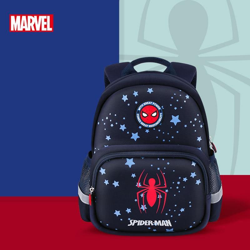 Disney Marvel Kindergarten Backpack for boys Spider Man Captain America Children school bag age 3-6 years Large Capacity Gifts