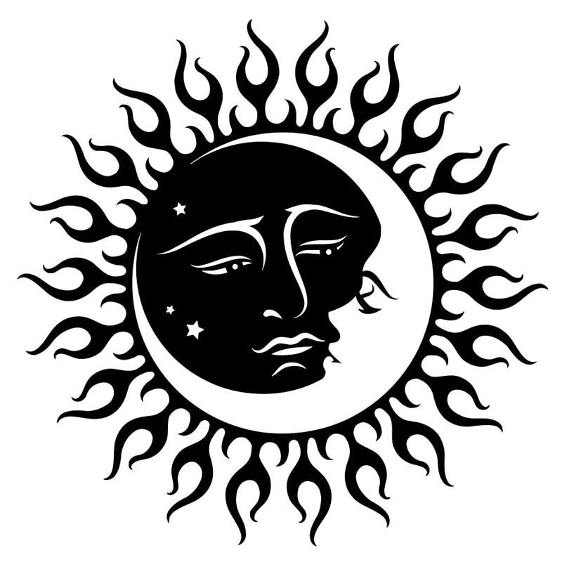 Солнце Луна Звезда автомобильные наклейки Модные Украшения для тела персонализированные ПВХ водонепроницаемые солнцезащитные наклейки м...