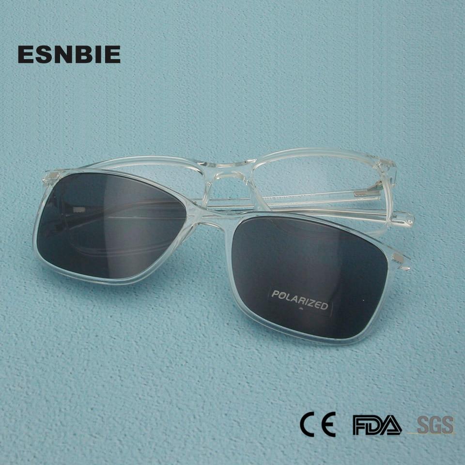 Gafas de sol con Clip polarizadas de titanio de plástico TR90 de moda
