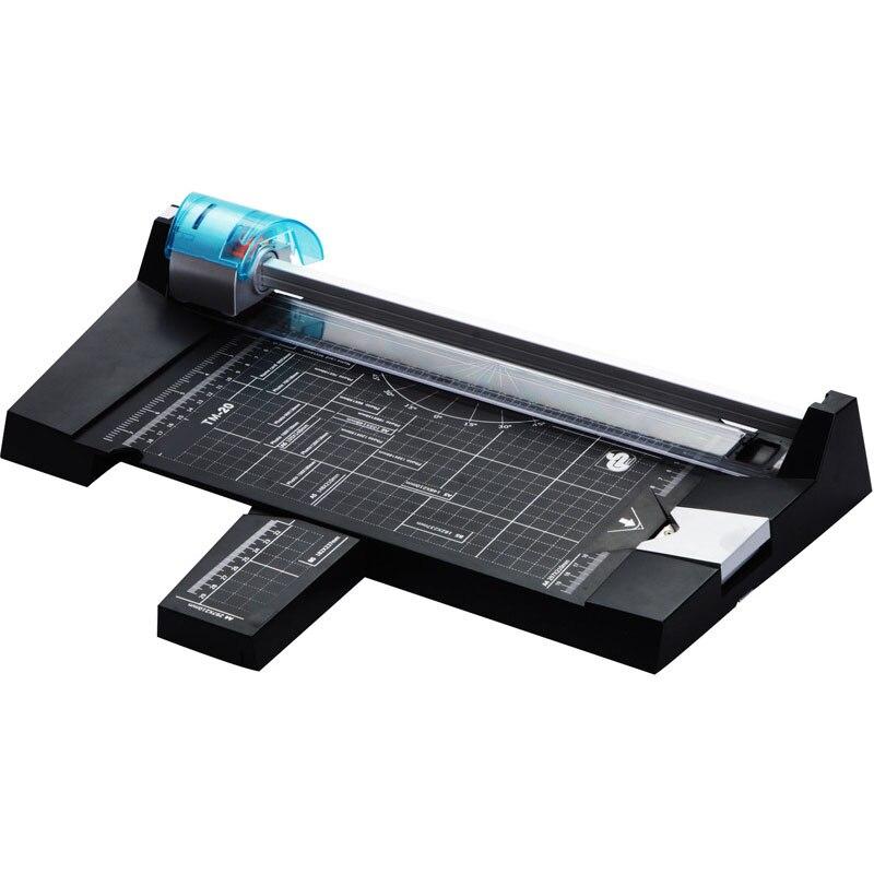 5in 1 مشذب الورق A4 TM-20 متعددة الوظائف الة قطع الورق اليدوي ورقة قطع سكين الصورة المسافة البادئة منقط خط منحنى XH
