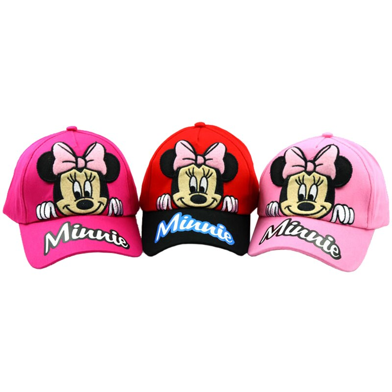 Boné minnie mickey mouse, chapéu de sol casual para meninas