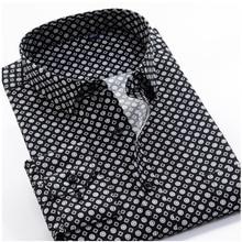 Grande taille 8XL 9XL 10XL VROKINO marque 2020 Vintage imprimé fleuri manches longues hommes affaires tenue décontractée mode chemise classique