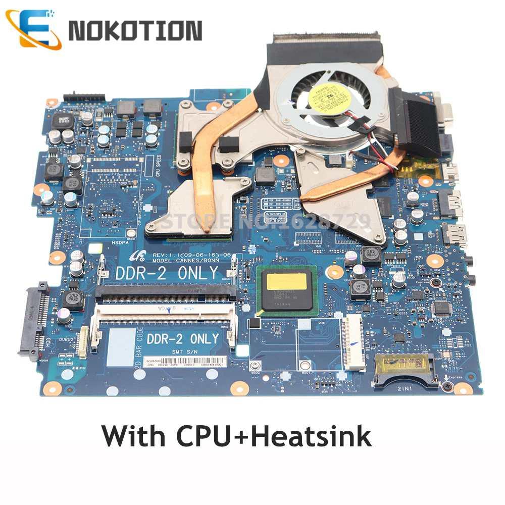 NOKOTION BA92-05741B BA92-05741A لأجهزة الكمبيوتر المحمول سامسونج R522 R518 R520 اللوحة DDR2 HD4300 وحدة معالجة الرسومات مع وحدة المعالجة المركزية + المبرد