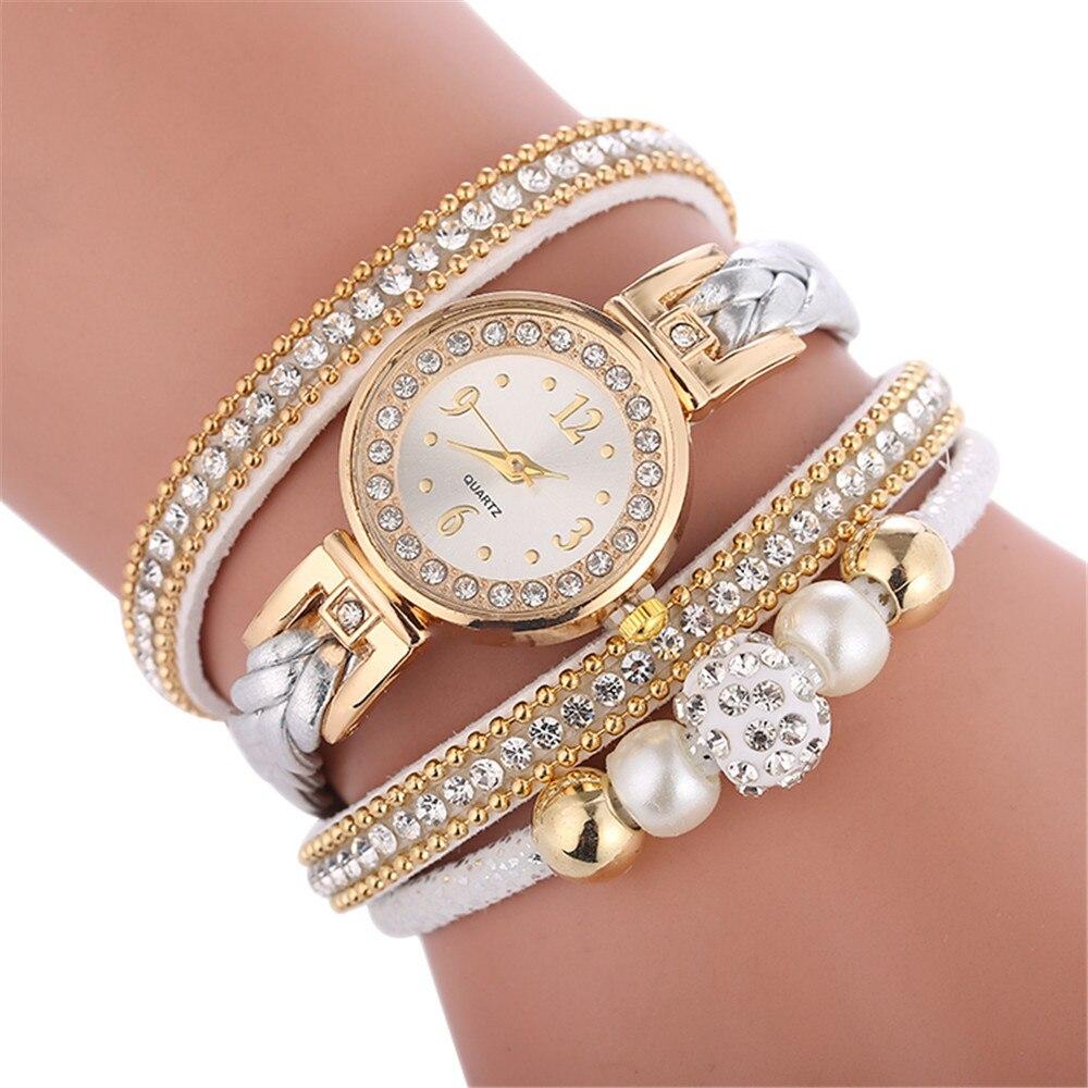 Relojes de pulsera relogio para mujer, relojes de pulsera envolventes a la moda para mujer