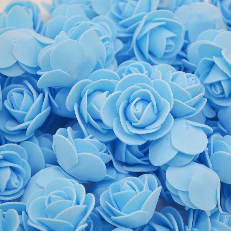 50-200pcs 3cm PE Foam Rose Artificial Flowers Wedding Party Accessories DIY Craft Home Decor Handmade Flower Head Wreath Supplie недорого