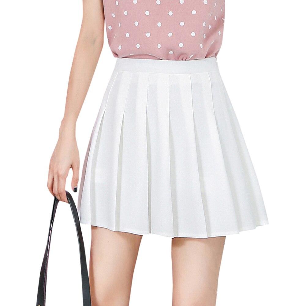 Женская плиссированная юбка с высокой талией, Повседневная трапециевидная мини-юбка с завышенной талией и молнией, модель 2021 года
