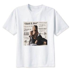 Ariana Grande Thank U Next Harajuku Casual T-shirts Male Clothes 2020 Short Sleeve TShirt Kpop Tops Hip Hop Plus Size Tees