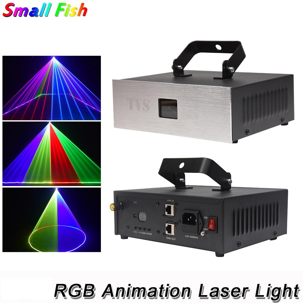 1.5W RGB 3IN1 Animation Laser Light DMX 512 Controller Laser Line Scanner Stage Lighting Effect Laser Projector For DJ Bar Disco