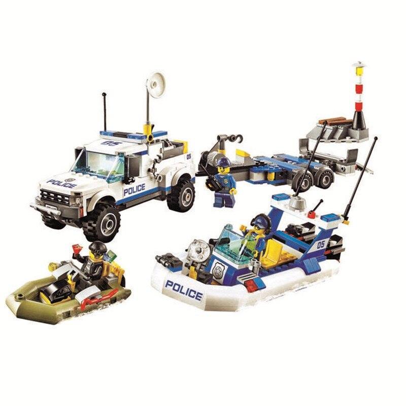 Bela 10421 Urban Compatible con Legoinglys 60045 City Patrulla de policía coche de bloques de construcción 409 Uds ladrillos juguetes niños regalos