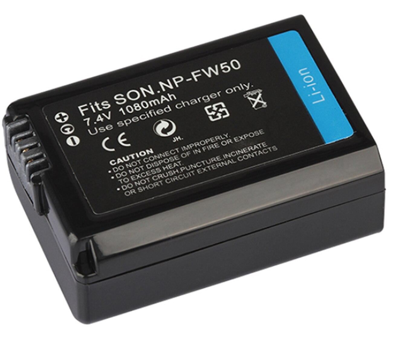 Paquete de baterías para Sony Alpha NEX-5, NEX-6, NEX-6L, NEX-7, NEX-C3, NEX-F3,...