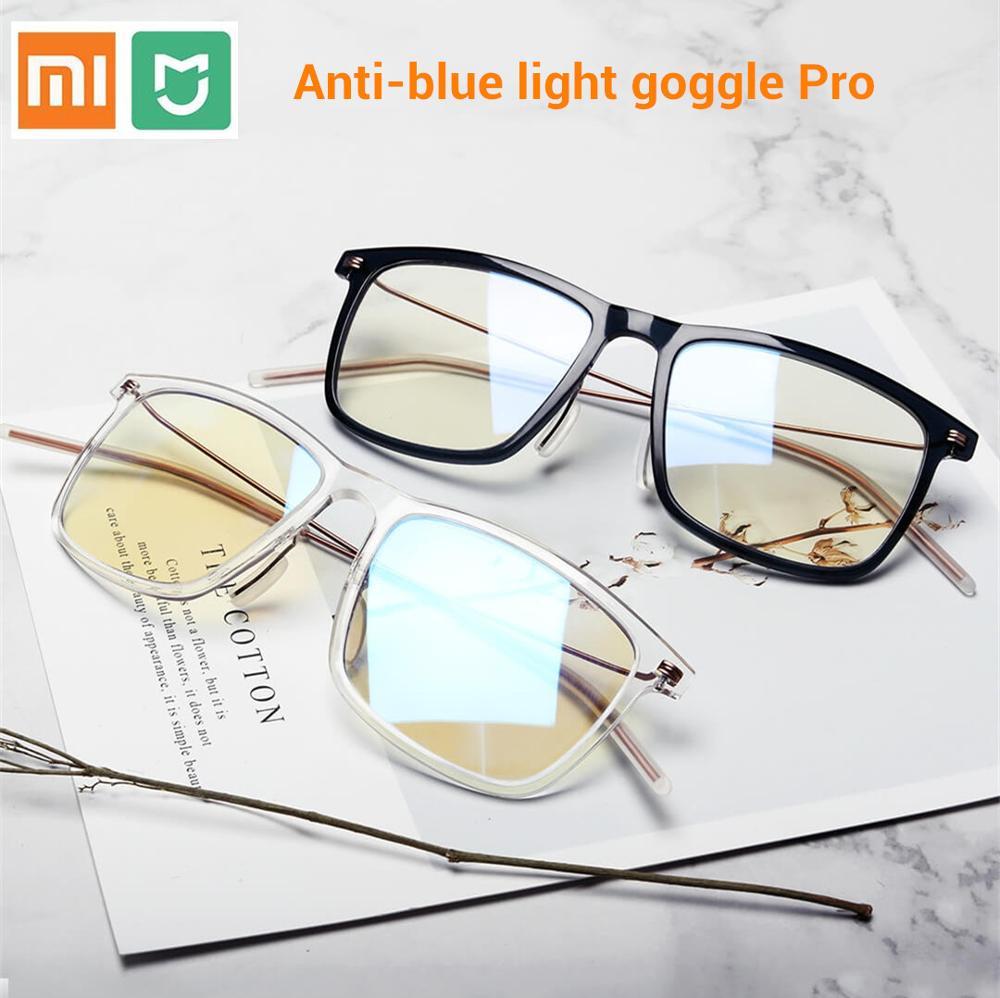 Xiaomi Mijia Anti-blue light Goggles Pro Xiaomi Glasses 50% Blue Blocking Rate Minimal Design Double-sided Oil Resistance