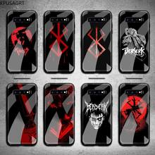 Berserk Guts Phone Cases Tempered Glass For Samsung S20 Plus S7 S8 S9 S10 Note 8 9 10 Plus