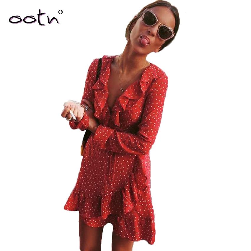 Casual vermelho mini ruffled urdidura vestido de sol feminino manga longa mini curto estrelas vestidos bandagem vintage túnica feminino sexy azul vestido