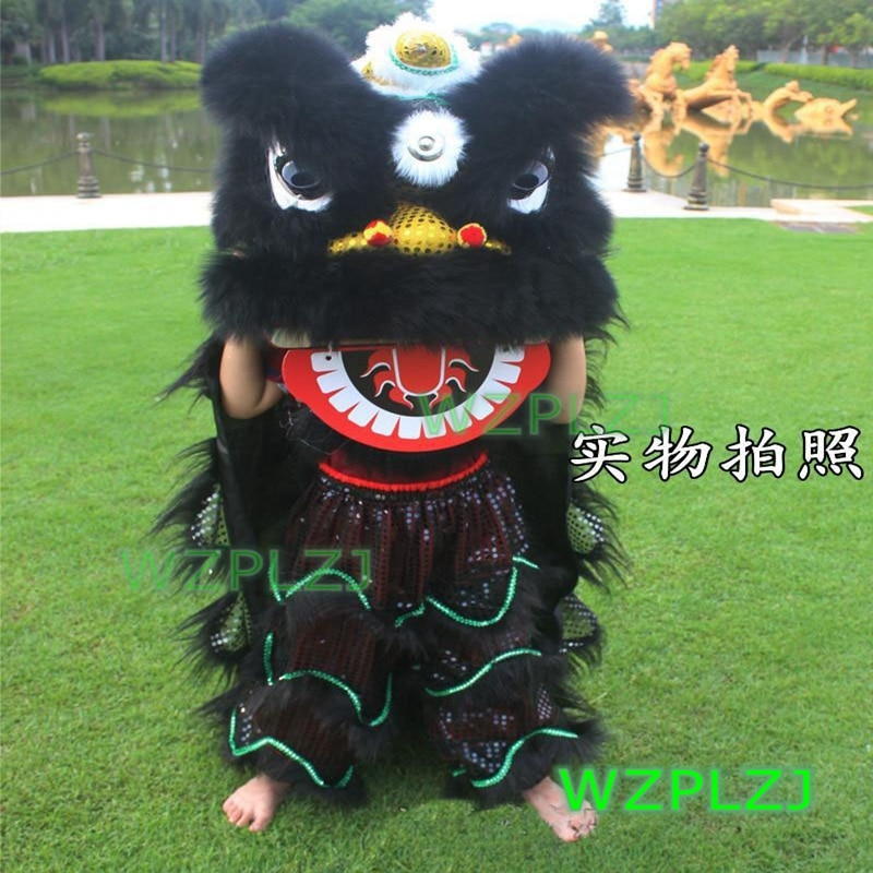 Cartoon 14inch Lion Dance Costume Royal  5-12 Age kid Children Halloween handmade Party Activities  Festival Parade Stage