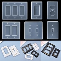 1pcs usb socket panel light switch cover epoxy resin mould crystal epoxy silicone mold for diy resin casting molds tool