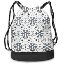 NOISYDESIGNS Portable Women Drawstring Backpack Large Capacity Travel Bag Kids Girls Hexagonal Water