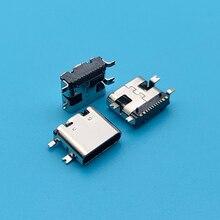 50PCS Micro USB JACK Typ-C 3,1 SMD 16pin Mit Standort Spalte Buchse Lade Buchse Für Mobile telefon Digitale Produkt