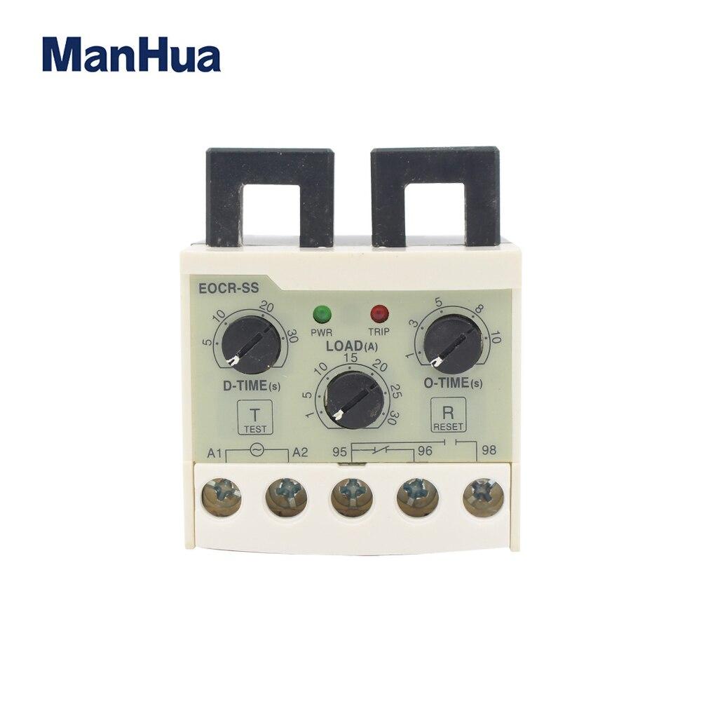 EOCR-SS 5-30A überlast phase verlust schutz relais unabhängig einstellbare ausgangs reise verzögerung elektronische überlast relais modul