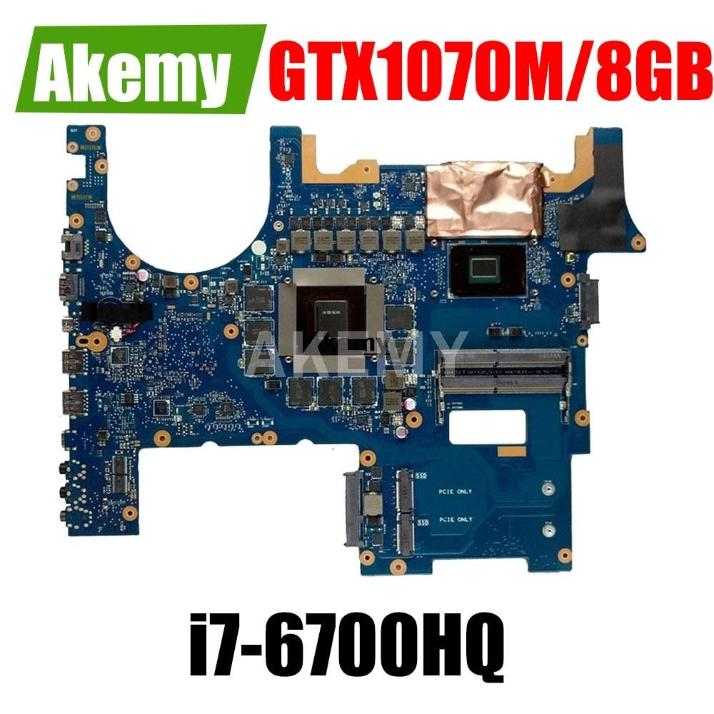 SAMXINNO G752VS Mainboard ل For For For For Asus G752VM G752VML G752VS G752VSK اللوحة i7-6700HQ GTX 1070 متر/8 جيجابايت GPU 100% العمل