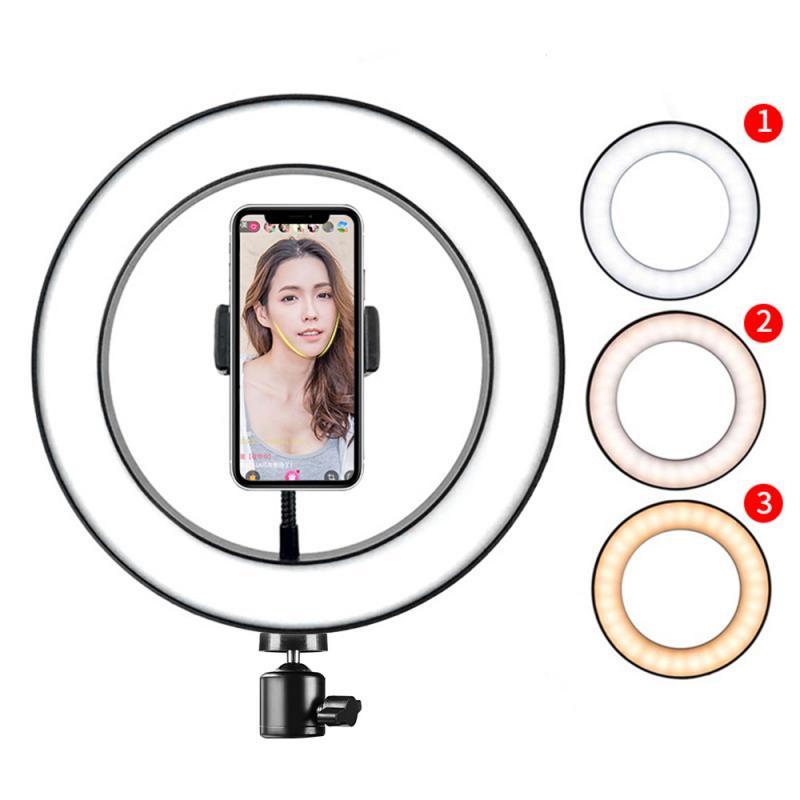 128 LED 3 Modes 8W 5500K Dimmable Studio Camera Ring Light For Iphone Andriod Supplementary Lighting Selfie Enhancing Fill Light