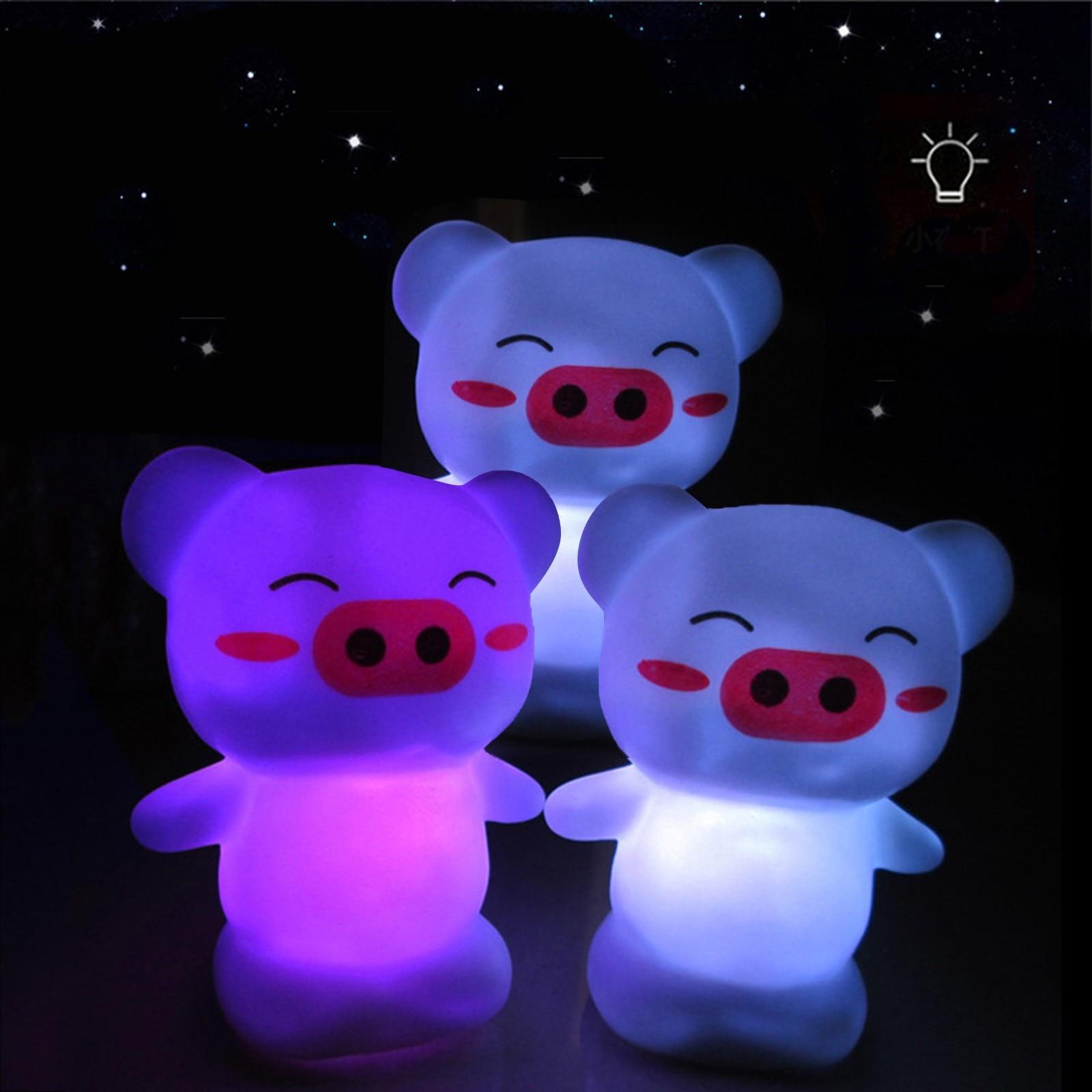 Lámpara LED De Noche con decoloración creativa, Para dormitorio, Mesita De Noche