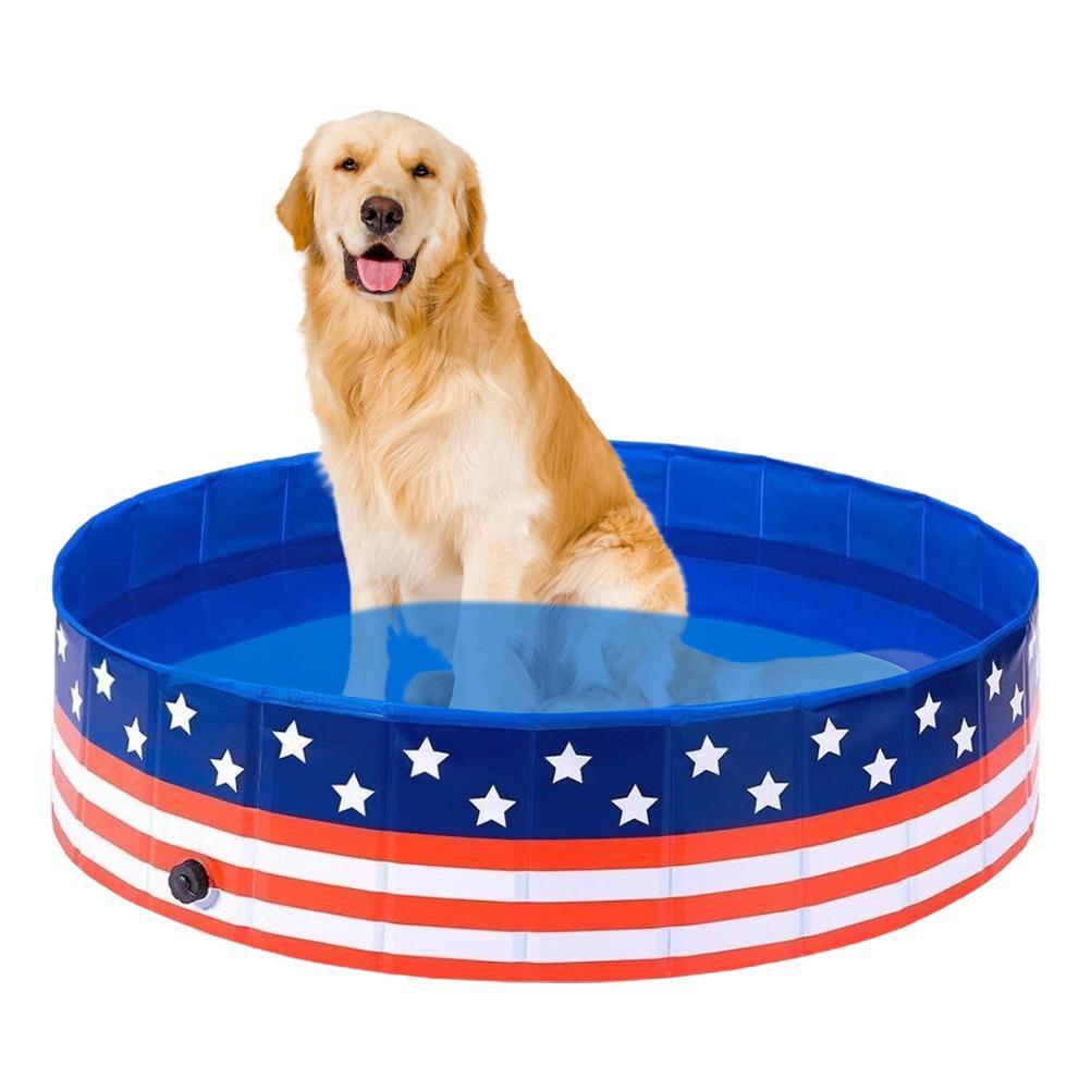 كلب التجديف بركة الحيوانات الأليفة حوض الاستحمام حوض للطي حوض للكلاب القطط جرو هريرة دش حمام سباحة منزل الحيوانات الأليفة للطي بركة