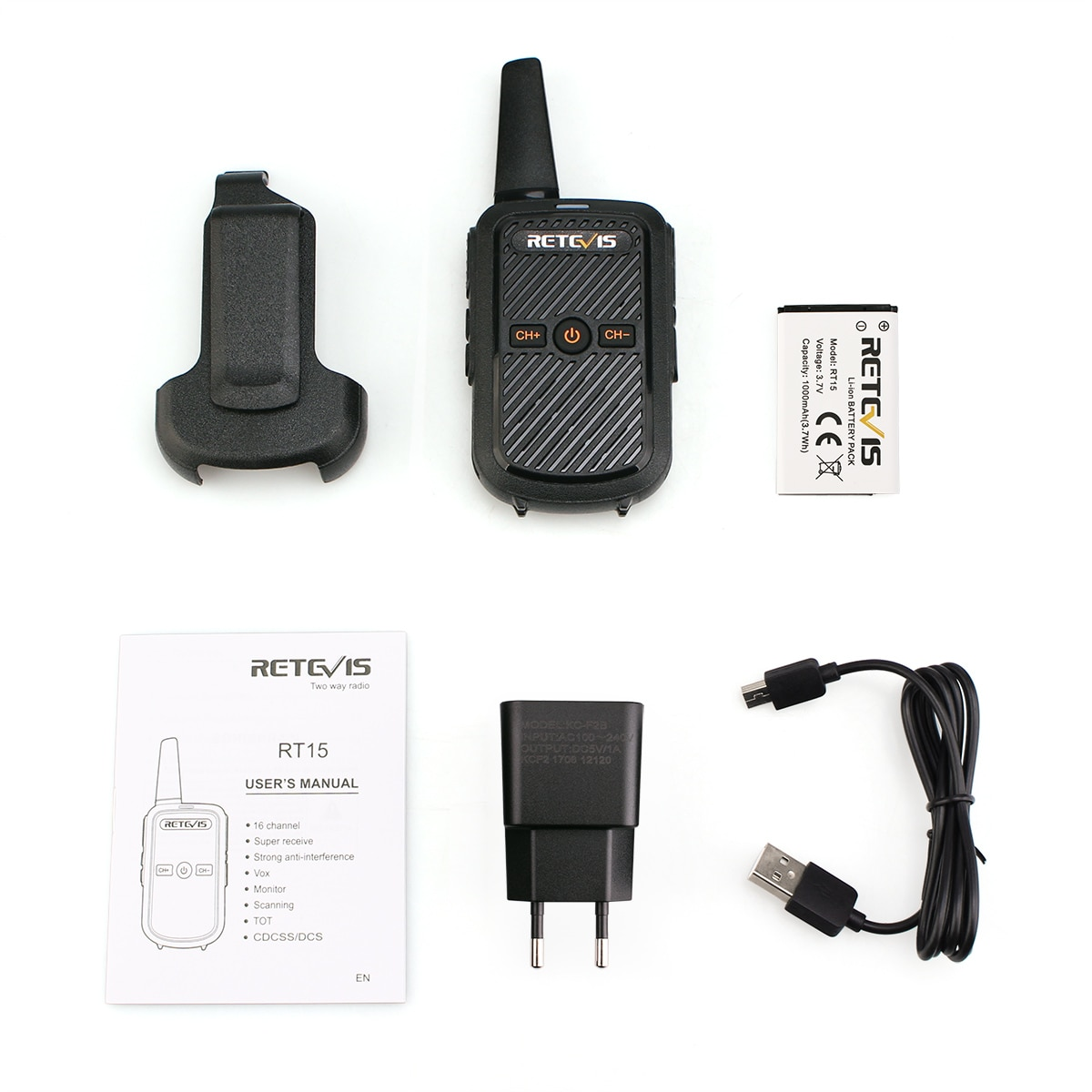 Mini Walkie Talkie 1 or 2 pcs Retevis RT15 Portable Two Way Radio FRS Radio Communicator Walkie-Talkies for hotel Restaurant PTT enlarge
