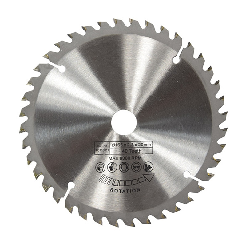 165mm 40T 20mm de diámetro hoja de sierra Circular TCT disco para Dewalt Makita Ryobi Bosch