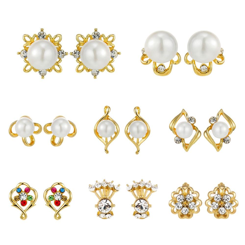 Viennois simulado pérola brincos para mulheres eterno zircon cor de ouro brinco diário jóias moda 2019