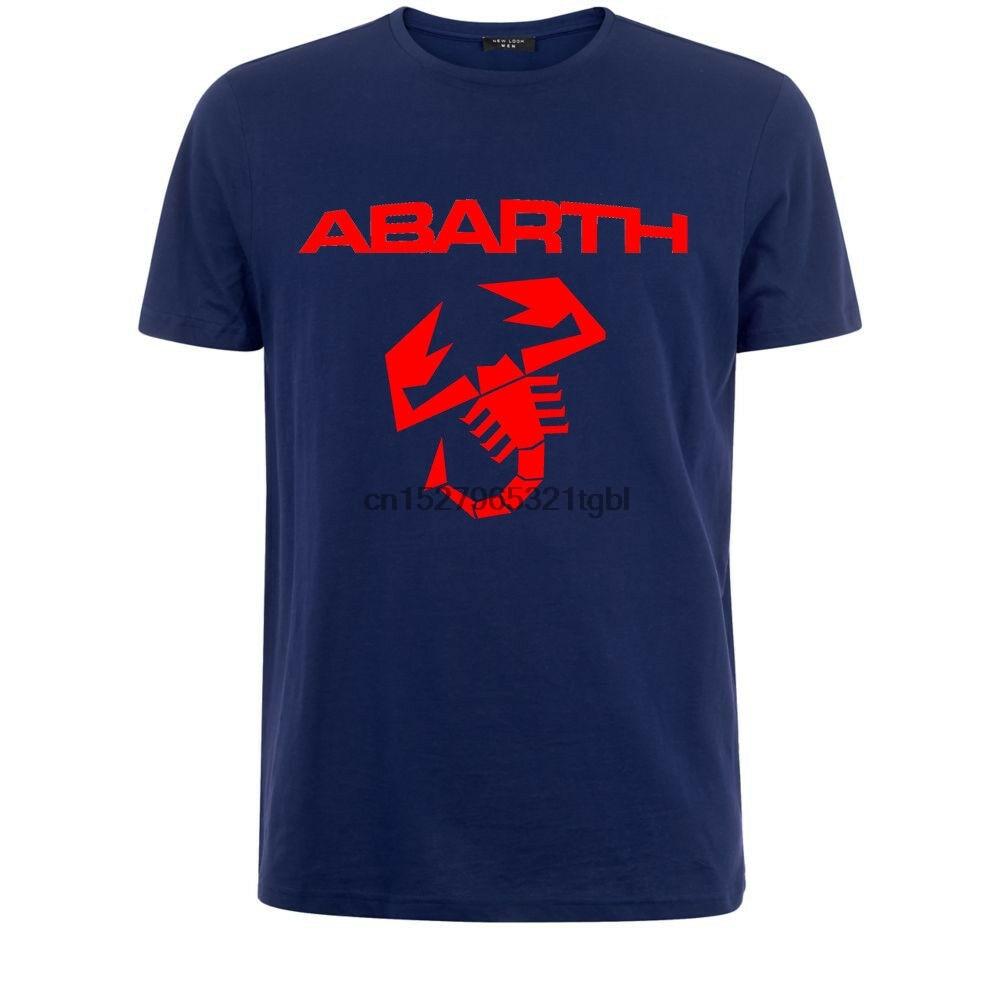 Fiat Abarth Carrera coche Moto deporte emblema italiano símbolo camiseta moda nuevo verano clásico Color sólido corto camiseta