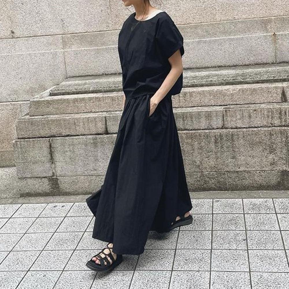 Summer Women Two Piece Sets 2021 Korean Fashion Black Round Neck Shirt+Long Pants Sets Ladies Casual Short Sleeve Streetwear Hot