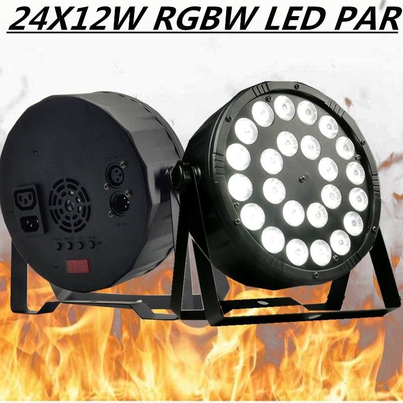 24X12W LED PAR RGBW 4in1 PAR Luzes/luzes de discoteca dmx512 controle de lavagem luz do estágio par levou equipamento de dj profissional