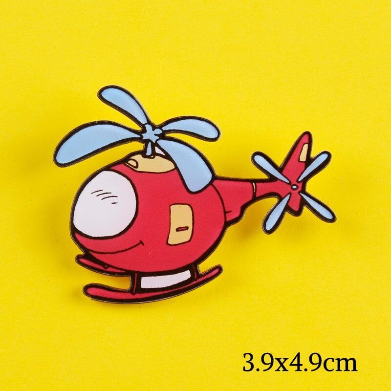 1PCS Hubschrauber Symbol Abzeichen Acryl Pin Meine Liebe Flugzeug Brosche Kühlen Cartoon Pin Für Dekoration Auf Rucksack Kleidung Schal