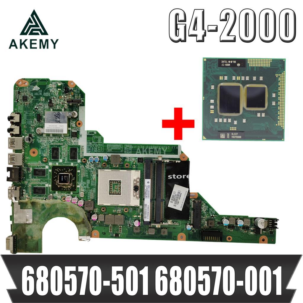 Akemy placa base 680570-501, 680570-001 para HP Pavilion G4 G4-2000 G6 G6-2000 G7 G7-2000 R33 DA0R33MB6F1 HM76 HD7670M gratis CPU