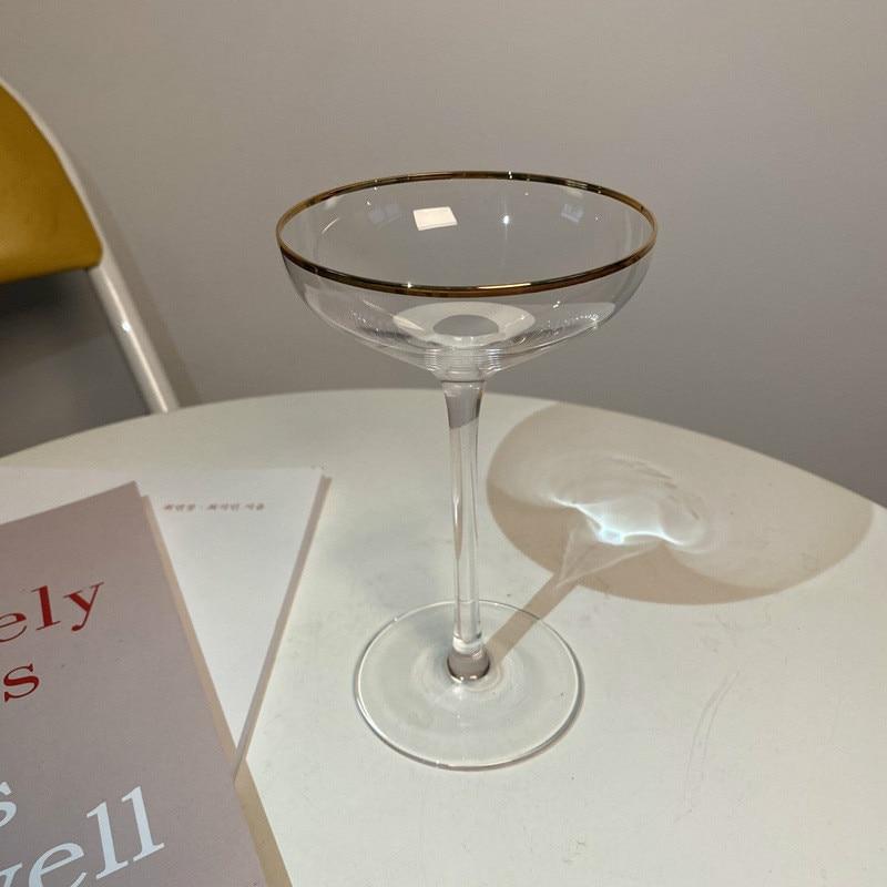 Phnom Penh Transparent High-end White Wine Glass Crystal Dessert Wine Glass Bar Cocktail Glass Special Champagne Glass Goblet