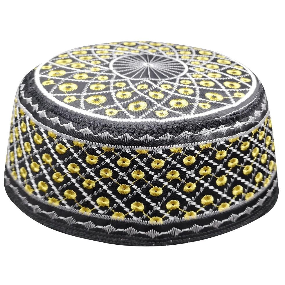 Black Yarmulke Hats Jewish Kippah Kippah Muslim Prayer Caps For Men Chapeau Musulman bonnet jewish hats juif