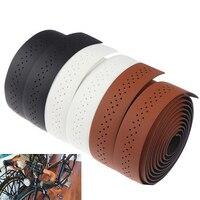 Кожа Велосипедные Рули шоссейные велосипеды дышащая мягкая лента для руля велосипеда MTB фиксированной Шестерни велосипедный пояс искусств...