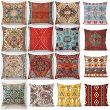 Ethnische Persische Teppich Druck Kissen Abdeckung Heißer Retro Dekorative Kissenbezug Vintage Kunst Türkischen Decke Wohnzimmer Kissen