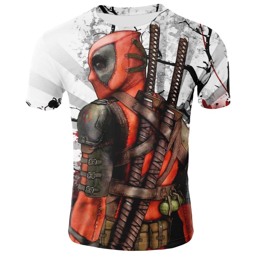 Camiseta con estampado 3D de Deadpool para hombre y mujer de ropa...