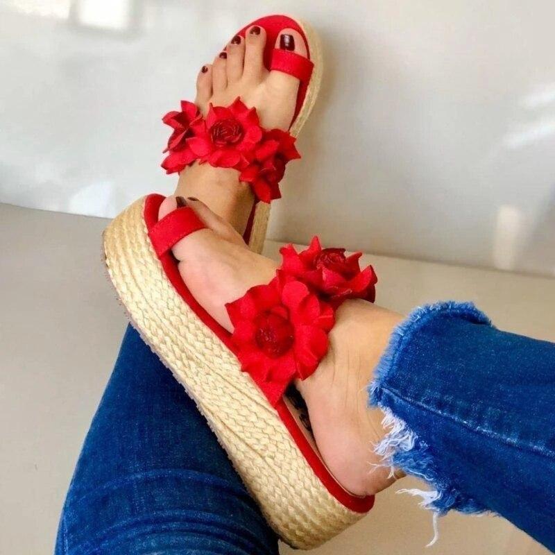 Las mujeres Casual diaria de deslizamiento en la plataforma 2020 sandalias de verano lindo playa vestido zapatos planos zapatos Dropshipping. Exclusivo. Mujer Snadals