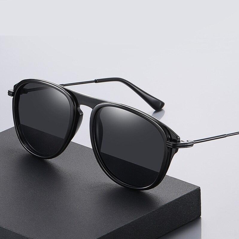 Men Polarized Sunglasses TR90 Oversized Frame 2021 New Fashion Rays Brand Designer Sun Glasses for M