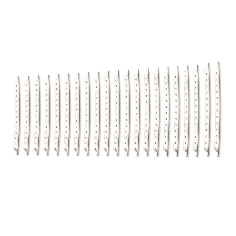 21 Uds. Conjunto de trastes de guitarra eléctricos de alambre de 2,7mm de aleación de cobre-níquel