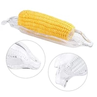2 pcs plastic corn trays kitchen storage container party easy clean bbq dinnerware transparent dish home barbecue tool