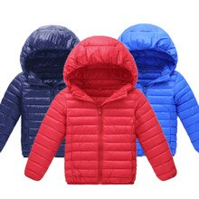Children's Outerwear 2021 Winter New Boys and Girls Cotton Down Jacket Lightweight Ultra Light Jacke