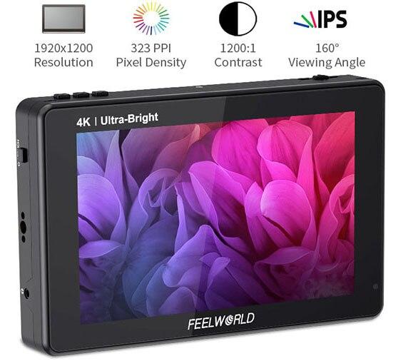 Feel world LUT7S PRO شاشة 7 بوصة 2200nits ثلاثية الأبعاد LUT تعمل باللمس DSLR كاميرا مخرج ميداني شاشة التيار المتناوب 4K HDMI مدخل المخرج ل Gimbal