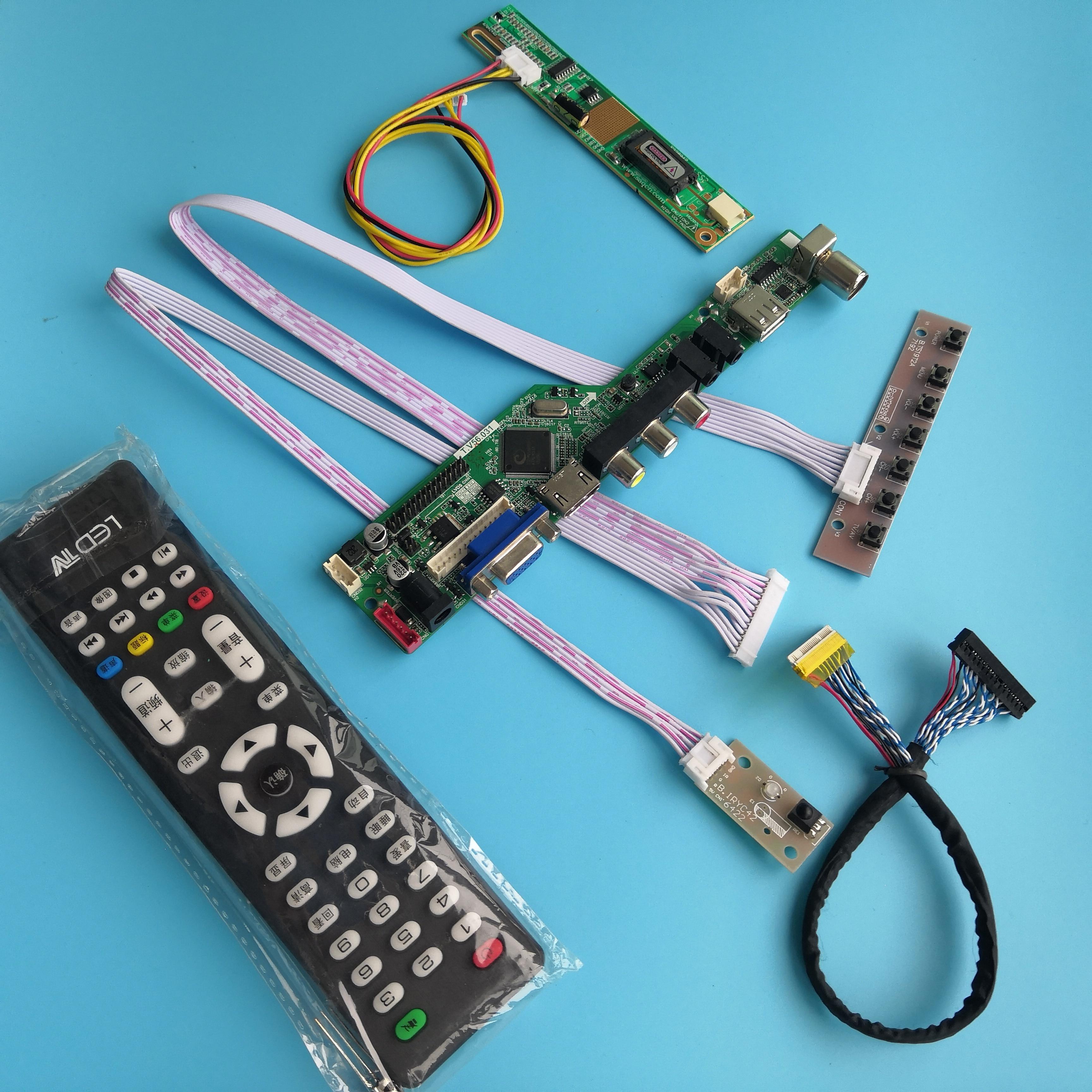 ل B170PW03 لوحة للقيادة USB 1 مصابيح إشارة رقمية VGA تحكم جديد 17