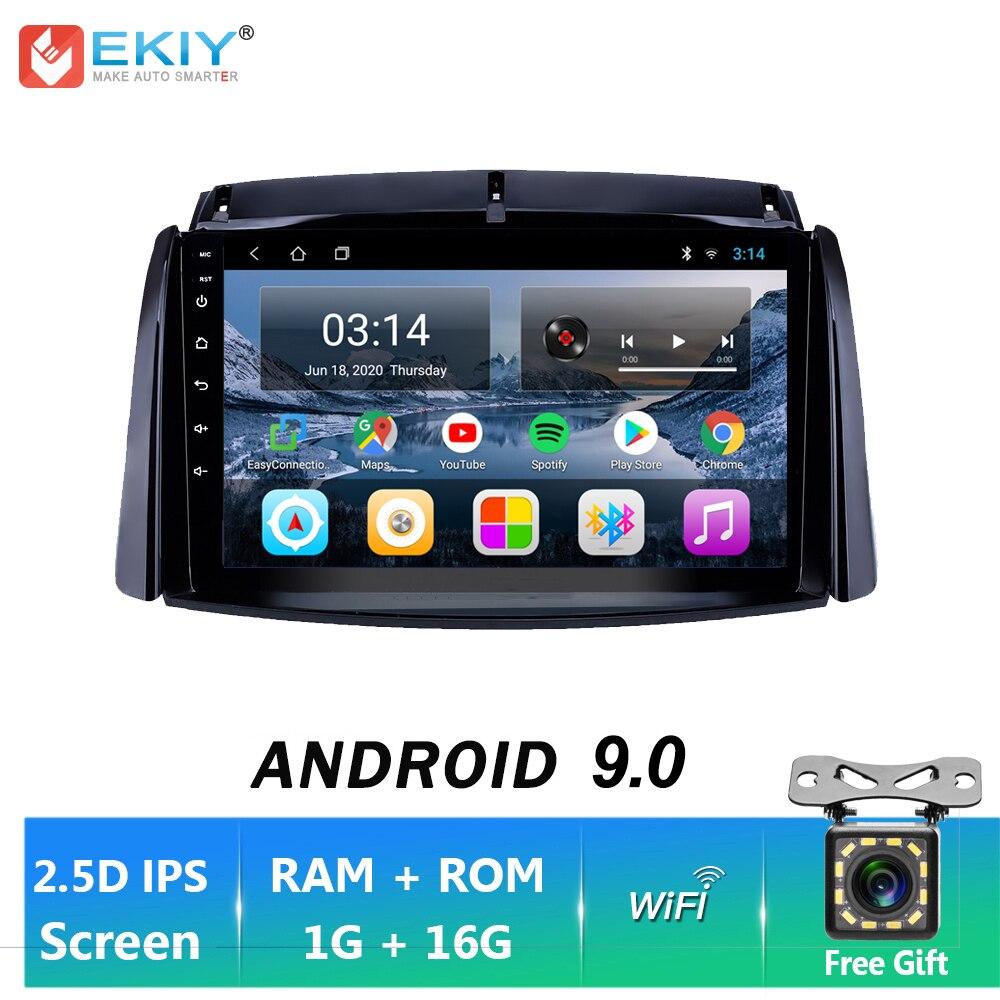 EKIY IPS Android 9,0 Car Radio GPS navegación para Renault Koleos 2009-2016 estéreo para coche reproductor Multimedia BT FM unidad de DVD de BT