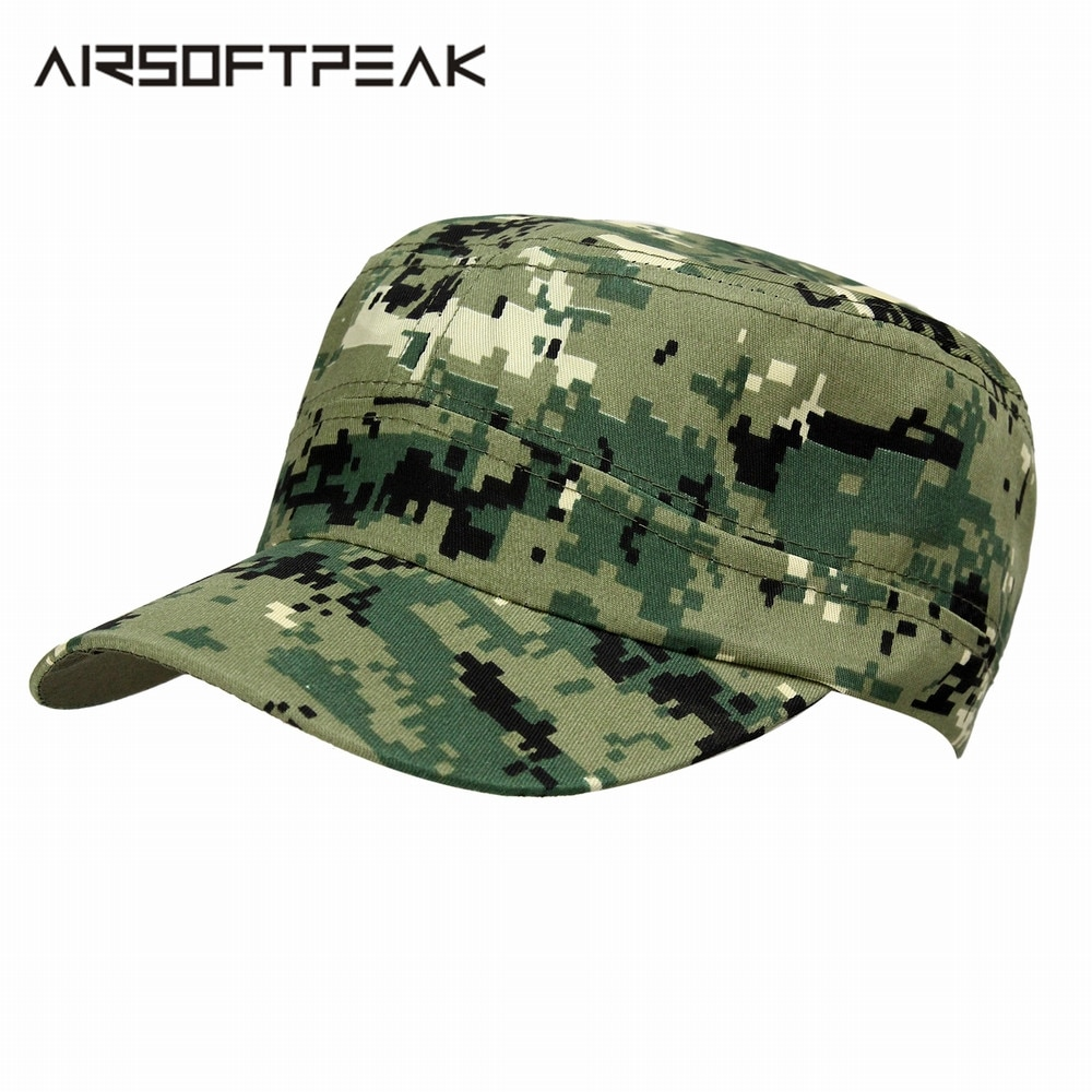 Tactical Army Cap Outdoor Sport Hunting Snapback Stripe Camouflage Hat Military Simplicity Camo Hunting Cap For Men Adult Sunhat