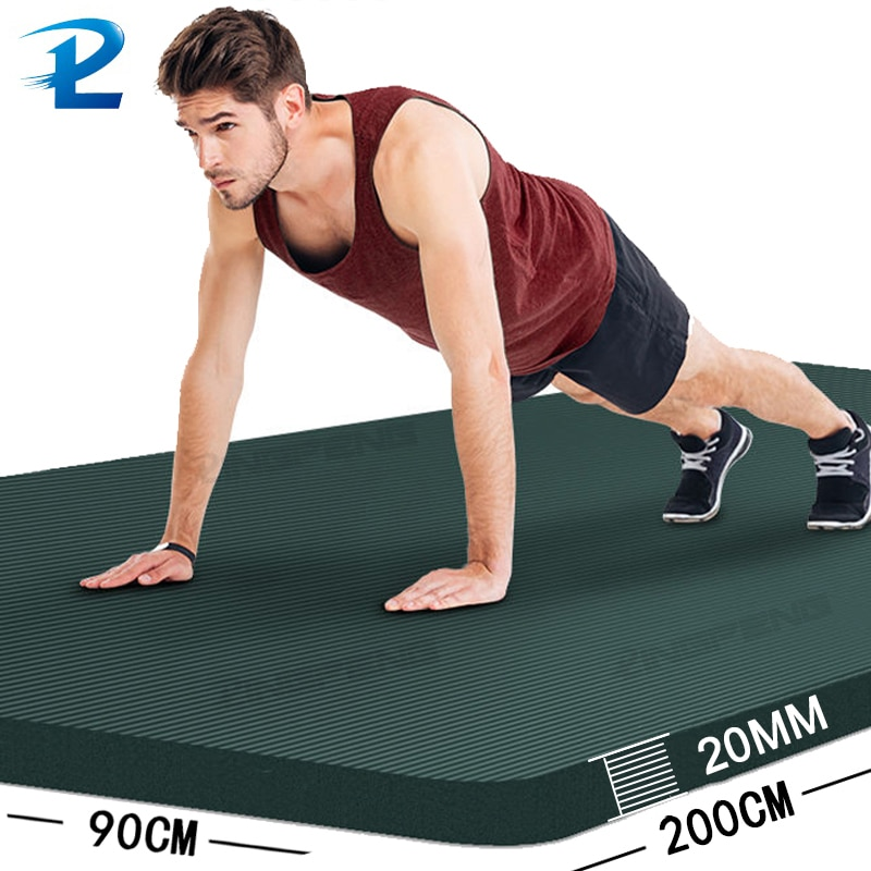 200 * 90CM Thicken Non-Slip Fitness Mat High Density  Exercise Yoga Mats For Gym Home Fitness Exercise Gymnastics