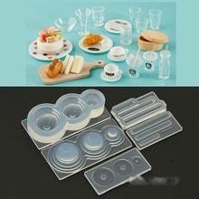 Handmade 3D Mini Milk Tea Cup Bottle Pendant UV Resin Casting Mold Silicone Mold Kit Miniture Food Play Mold Craft Tools